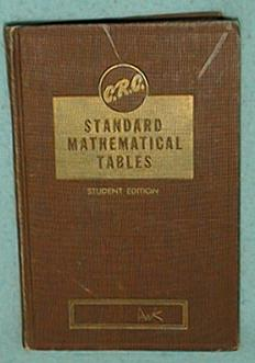 Standard Math Tables of the Chemical Rubber Company