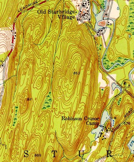 Topographic map of the CRC land