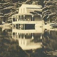 One of the lake cabins, from an old camp postcard